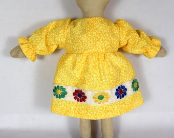 Yellow Dress & White Bloomers - Doll Clothes - Kids' Toys - Fits 9 Inch Dolls