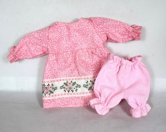 Pink Doll Dress & Pink Bloomers - Doll Clothes - Fit 9 Inch Dolls - Handmade
