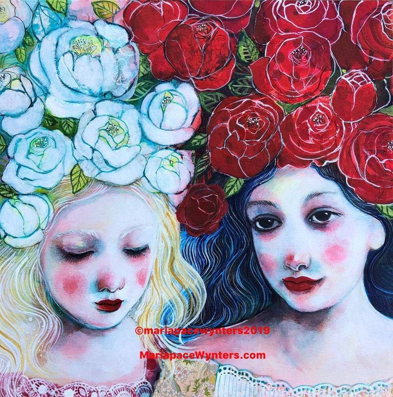 Snow White & Rose Red 12x12 Limited  1st Edition image 0