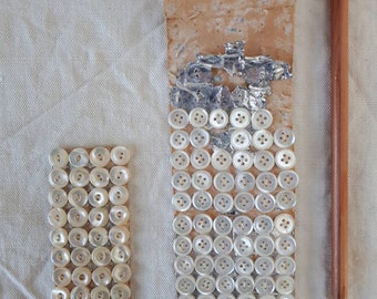 Vintage French Mother of Pearl Buttons