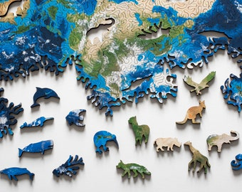 Earth Infinity Puzzle - wooden jigsaw puzzle by Nervous System