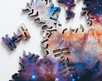 Infinite Galaxy Puzzle 2 - wooden jigsaw puzzle by Nervous System
