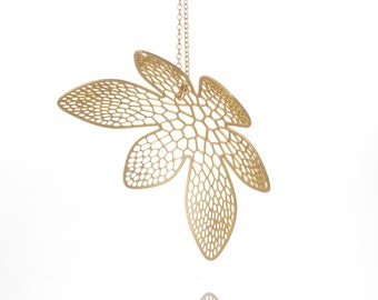 Corolla Pendant | etched brass | Corollaria collection