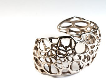 Spiral Cuff (3D printed stainless steel)