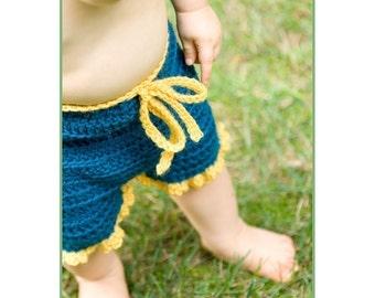 Crochet Pattern--Ruffle Bum Shorties or Longies