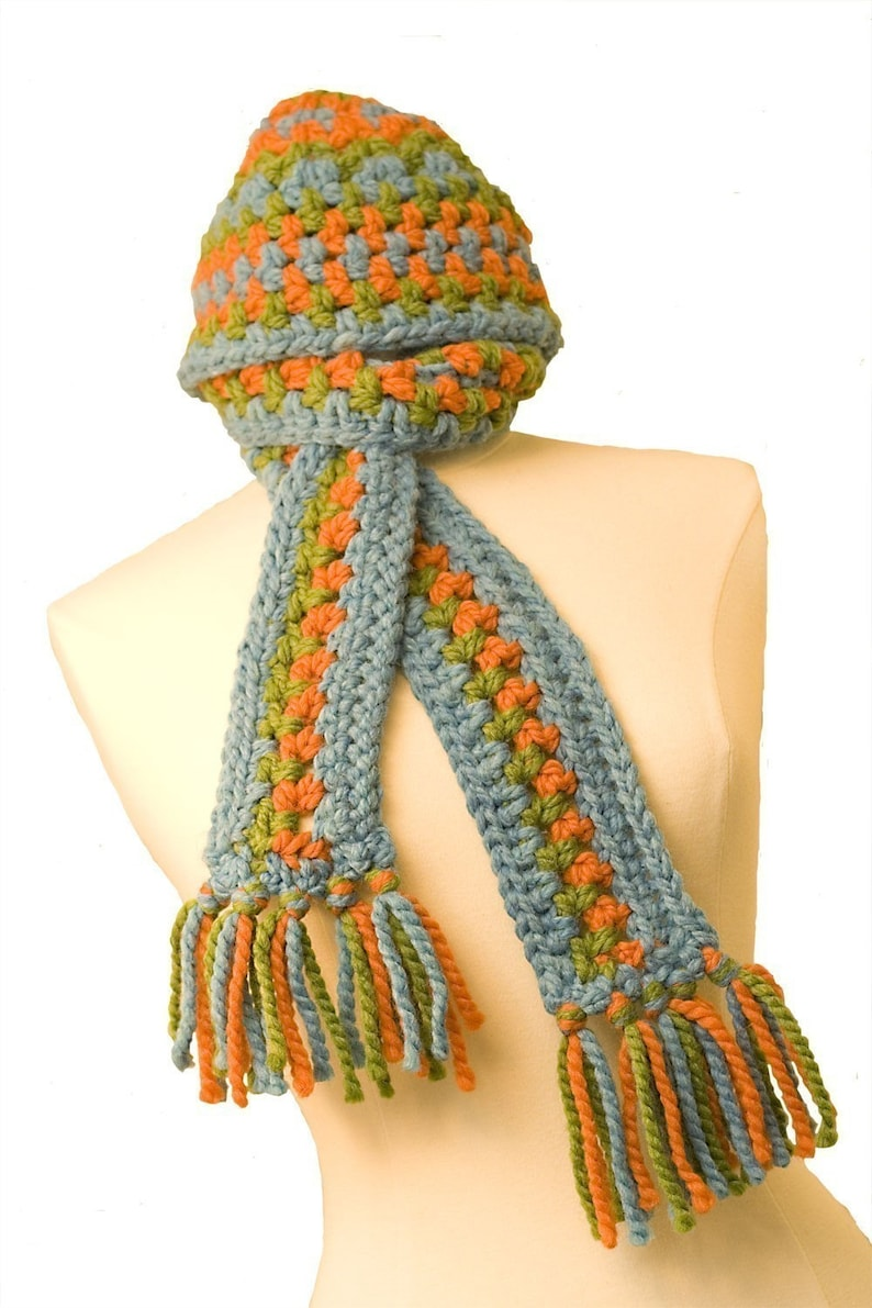 Crochet Pattern Chunky Hat and Scarf image 0