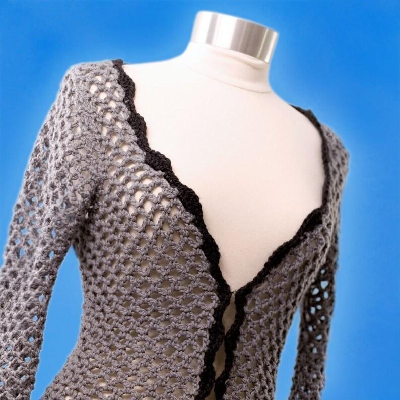 Crochet PatternOpenwork Sweater image 0