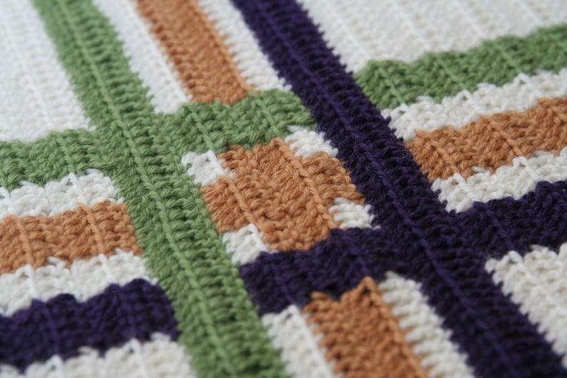 Crochet PatternModern Plaid Throw image 0