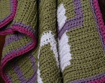 Crochet Pattern--Retro Baby Blanket