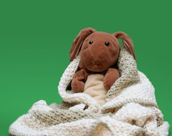 Crochet Pattern--Organic Cotton Baby Blanket