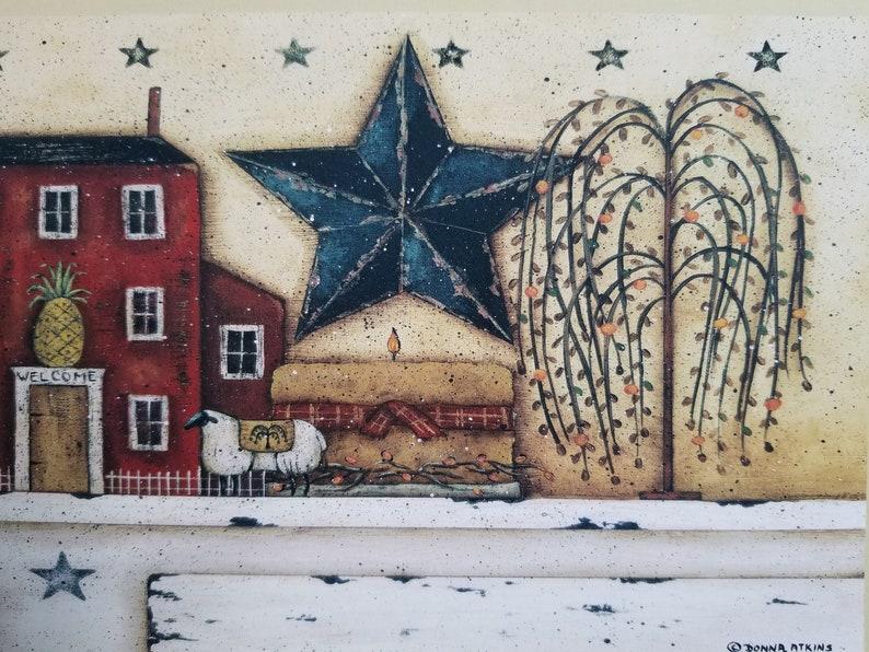 Still Life Mini Primitive Folk Art Print By Donna Atkins