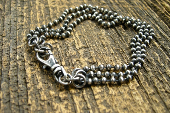 unisex sterling silver ball chain bracelet bead chain  2223c3003