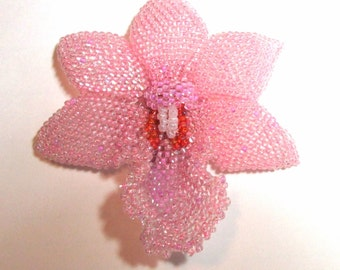 Beaded Orchid Brooch 60 page Tutorial Pattern