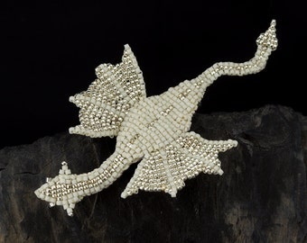 Dragon Brooch Beading Pattern - Sixteen Page E-Book Tutorial