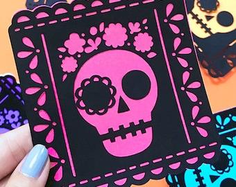 Dia de Muertos Picado Banner Multi-Layered SVG Cut File designed by Jen Goode