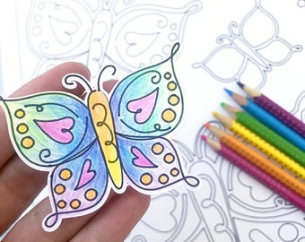 Spring Butterfly SVG Cut File art for crafts and decor designed by Jen Goode