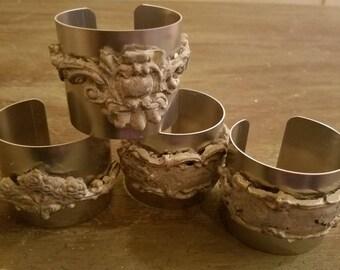 Faux Stone Embellished Metal Cuff
