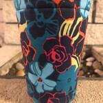 Pretty Flowers Insulated Coffee Cozy Cozie Iced Sleeve Cuff 20 oz size