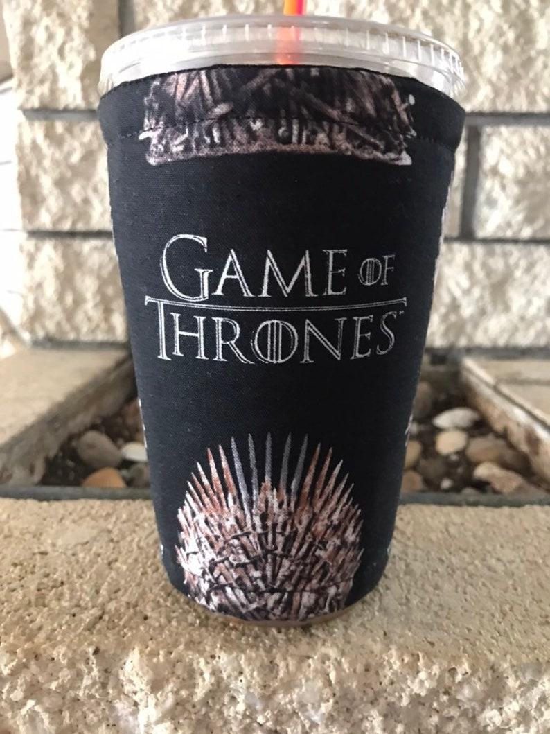 GOT Game Thrones Coffee Cozy Cozie Iced Sleeve Cuff image 0