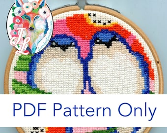 I'll be your friend - bird cross stitch PDF pattern