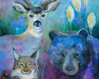 Wildlife Landscape Marys Peak - The Gathering Place - Fine Art Print by Jenlo