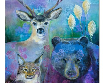 Contemporary Wildlife ORIGINAL Painting, 24x36 by JENLO