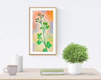Garden Parsley Bolt in Orange - Fine Art Print by Jenlo