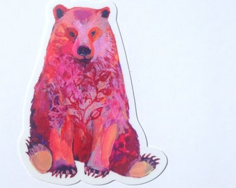 Bear Vinyl Sticker, 2.5x4, by Jenlo