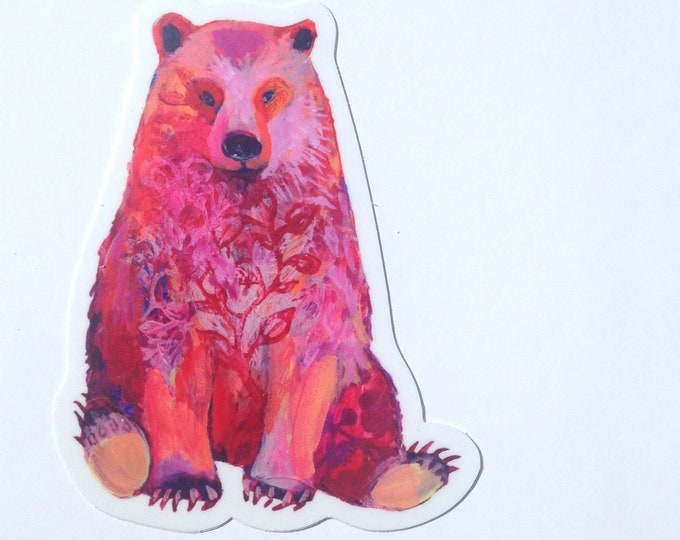 Featured listing image: Bear Vinyl Sticker, 2.5x4, by Jenlo