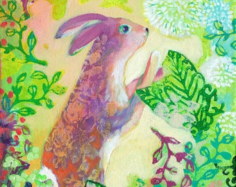 Curious Bunny - Abstract Fantasy Fine Art Print by Jenlo