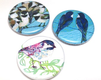 Little Birds - Magnet or Pin Set of 3 - by Jenlo