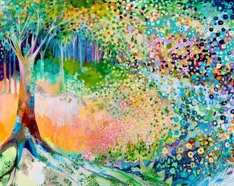 Fantasy Forest Triptych - Three (3) Fine Art Prints by Jenlo