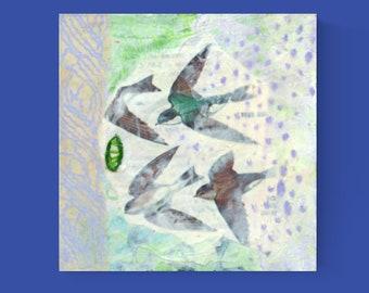 Soaring - ORIGINAL Mixed Media Sampler Art #001 by JENLO