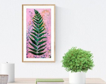 Little Fern in Pink Fine Art Print by Jenlo
