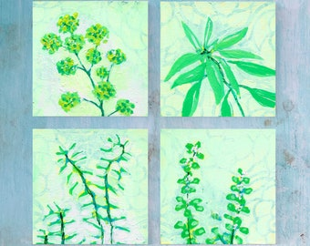 Parsley, Sage, Rosemary, & Thyme - Fine Art Print Set of 4 by Jenlo