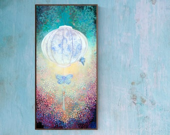 Searching for Truth - Butterfly Lantern - Fine Art Print by Jenlo