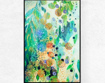 Vivid Modern Floral Abstract - Fine Art Print by Jenlo
