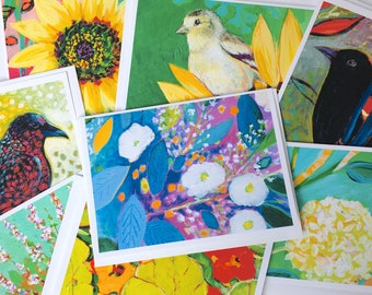 SALE - Lot 4 - Mixed Set of 8 Blank Note Cards by Jenlo