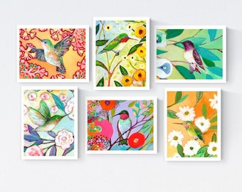 Hummingbirds - Blank Note Card Set by Jenlo