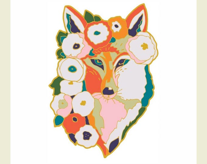 Featured listing image: Limited Edition Fox Enamel Pin by Jenlo