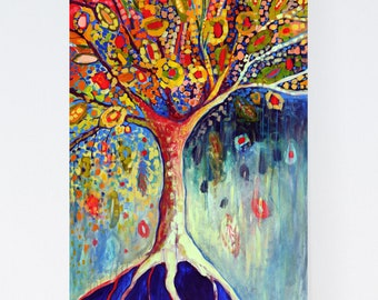 Vivid Modern Tree of Life Abstract - Fine Art Print by Jenlo
