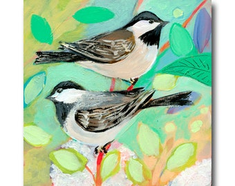 Chickadees Bird Print #42 from The NeverEnding Story Final Chapter by JENLO