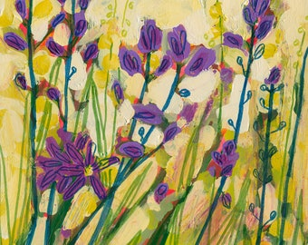 Camas Impressionist Floral Spring Garden Art -  Print by Jenlo