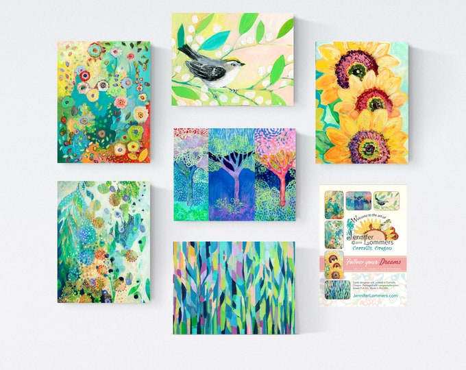 Featured listing image: Follow Your Dreams Set A - Blank Note Cards by Jenlo