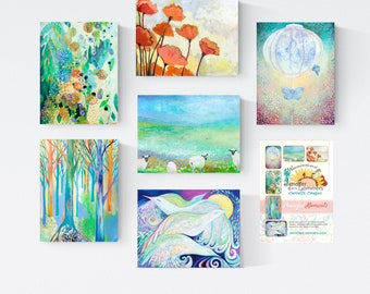 Peaceful Moments - Blank Note Cards by Jenlo
