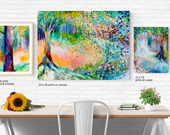 Fantasy Forest Triptych - Three (3) Fine Art Prints by Jenlo