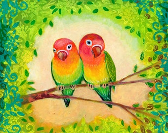 Modern Love Bird Art Print by Jenlo