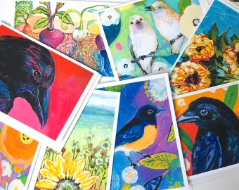 SALE - Lot 1 - Mixed Set of 8 Blank Note Cards by Jenlo