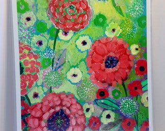 Modern Abstract Floral Art - Fine Art Print by Jenlo