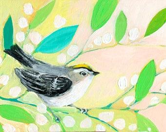 Little Spring Bird Fine Art Print by Jenlo